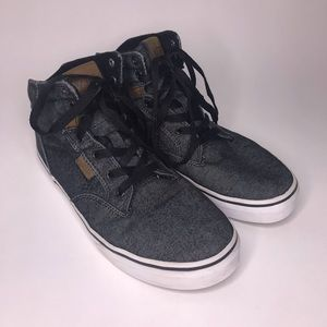 Vans | Denim Gray Canvas High Top Skater Shoes